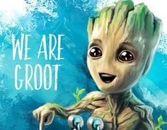 "Check out new work on my @Behance portfolio: ""Baby Groot"" http://be.net/gallery/52640999/Baby-Groot"