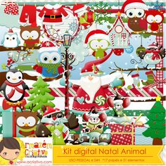 kit digital Natal animal http://acriativo.com/loja/index.php?main_page=product_info&cPath=34&products_id=827