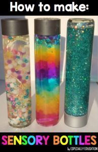 Sensory Bottles Glittery and colorful! Some great DIY sensory bottle ideas for any preschool!Glittery and colorful! Some great DIY sensory bottle ideas for any preschool! Infant Activities, Preschool Activities, Preschool Learning, Rainbow Crafts Preschool, Calming Activities, Preschool Projects, Group Activities, Preschool Ideas, Diy 2019