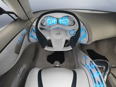Hyundai HED-4 QarmaQ, Futuristic Car Interior, Future Car