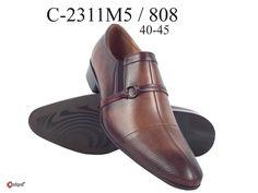 Мужские туфли из натуральной кожи коричневые