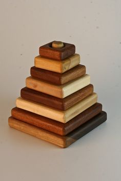 Classic Wooden Stacking toy 8 piece maplewalnut and by MrWhale, $24.00