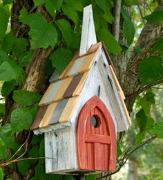 Rustic Church Birdhouse