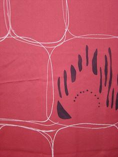 Pink retro Japanese kimono silk fabric