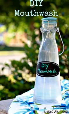 Super simple DIY Mouthwash Recipe-helps whiten teeth, prevent cavities and freshens breath www.cocoswell.com .jpg
