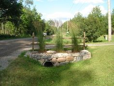 Curb Appeal Over Culvert Three Driveway Culvert Driveway with regard to Driveway. Curb Appeal Over Driveway Culvert, Driveway Entrance Landscaping, Acreage Landscaping, Mailbox Landscaping, Landscaping With Rocks, Landscaping Ideas, Driveways, Driveway Ideas, Outdoor Landscaping