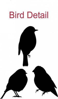23 new ideas tree silhouette stencil in love Vogel Silhouette, Tree Silhouette, Bird Template, Bird Stencil, Large Wall Decals, Black Tree, Bird Drawings, Art Plastique, Bird Art