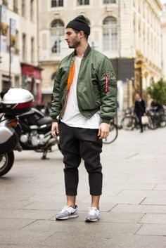 Another day, another way to dress :  - MA1 Bomber  - Alexander Wang Pants - Nike Flyknit Sneakers   - Nicolas Lauer