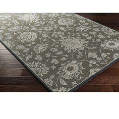 Hand Tufted Wool Rug (5' x 7'6) (Moss Green), Beige