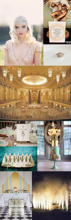 The Great Gatsby Art Deco Wedding Inspiration by lbgerstel