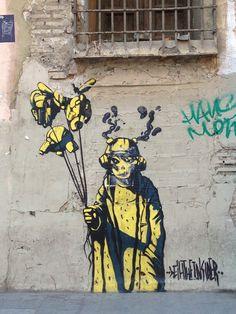 Street art in Lyon, France, by artist DEIH. Banksy Graffiti, Graffiti Tagging, Street Art Graffiti, Tag Street Art, Street Art Love, Art Mural, Wall Art, Wall Murals, Installation Street Art