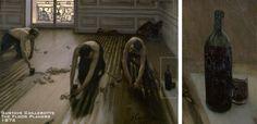 Gustave Caillebotte, The Floor Planers, 1875 > Çalışırken şarap içen işçiler.