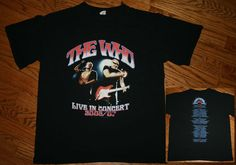 THE WHO Live in Concert 2006/2007 Tour T-Shirt Tee-Mens Medium-punk/British Rock
