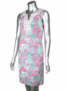 Lilly Pulitzer Scorpion Bowl Ricci Shift Dress Misses 12 Hotty Pink $149.99
