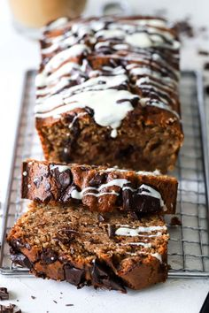 vegan cinnamon chocolate chunk bread #healthymeals #dessertideas #easydessert