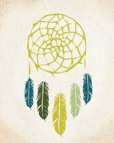 Native Dreamcatcher Art Print 8x10 inch American Tribal, SALE buy 2 get 3. $19.00, via Etsy.