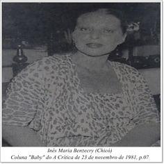 "Inês Maria Benzecry. Coluna ""Baby"" do A Crítica de 23 de novembro de 1981."
