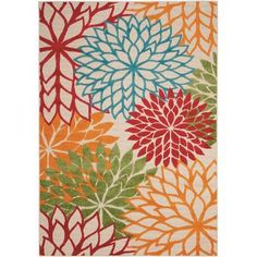 Buy the Nourison Green Direct. Shop for the Nourison Green Aloha x Rectangle Synthetic Power Loomed Floral Indoor / Outdoor Area Rug and save. Coastal Area Rugs, Floral Area Rugs, Blue Area Rugs, Indoor Outdoor Area Rugs, Outdoor Areas, Outdoor Decor, Indoor Flowers, Green Flowers, Making Ideas