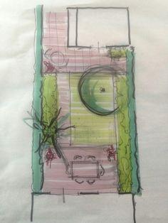 Ontwerp kleine tuin - design small garden