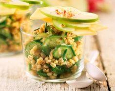 Verrines de concombres et de pommes (facile, rapide) - Une recette CuisineAZ