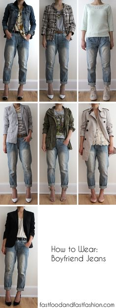 Fast Food & Fast Fashion | a personal style blog: Wear It Five Ways: Boyfriend Jeans