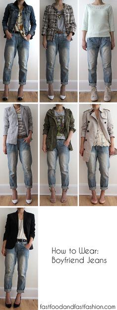 Fast Food & Fast Fashion | a personal style blog: Wear It Five Ways: Boyfriend Jeans