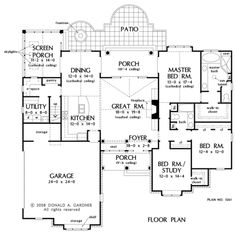 The Sutton House Plans First Floor Plan - House Plans by Designs Direct.