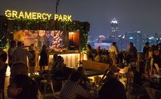 Image of rooftop bar