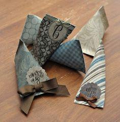 Teacher appreciation ideas ... DIY candy packet from scrapbook paper