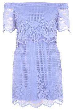 PETITE Bardot Lace Dress - Dresses - Clothing - Topshop