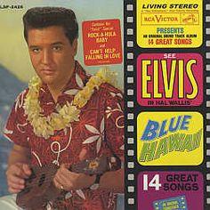 """Elvis Presley's album of songs from """"Blue Hawaii"""""""