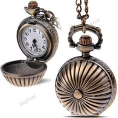 Spherical Design Quartz Pocket Watch Portable Watch Timepiece with Chain for Female Male WTH-197312