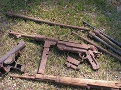 WW2 Excavation of German weapons