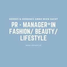 #PR Manager*IN für Fashion/ Beauty / Lifestyle gesucht!    #Jobs #Wienjobs #Jobsearch #Jobposting #Jobtips #recruitment #Jobsuche #Karriere #Stellenangebot #Jobangebot #Bewerbung #PRJobs #Verlagsjobs Pr Jobs, Manager, Management, Beauty, Innovative Ideas, Addiction, Career, Beauty Illustration