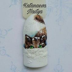 Настя Катанаева Nail with cat