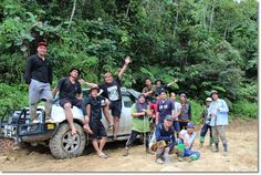 WWF-Malaysia staff from Sabah and Sarawak together with Forest Department Sarawak staff and local guides posing for the camera after a wildlife survey in Payeh Maga, Lawas. ©WWF-Malaysia/Zora Chan