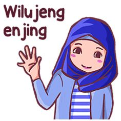 Use this sundanese set sticker with Euis a hijab girl for your daily conversation. Enjoy and share these cute stickers with your friends. Islamic Cartoon, Hijab Cartoon, Cartoon Jokes, Walt Disney Company, Funny Stickers, Line Sticker, Animated Gif, Funny Quotes, Friends