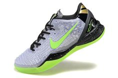 "Black/Electric Green/Cool Grey/Metallic Gold Nike Kobe Bryant 8 System SS ""Christmas"" Basketball Shoes"