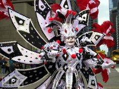 Marcher in the Philadelphia Mummers Parade.