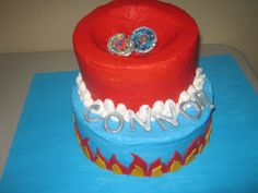 BeyBlade Cake For My Son Traced Outline From Coloring Page With