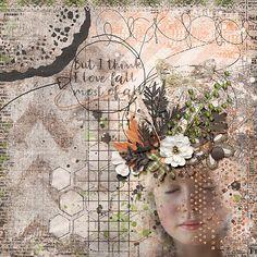 I love fall Digital Scrapbooking, Falling In Love, Dandelion, Waiting, Artsy, Layout, Autumn, My Love, Create