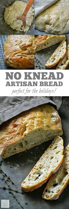 Crusty Artisan Style Bread | by Life Tastes Good has a wonderfully tangy flavor with a crispy outside and soft, chewy inside. With this no-knead recipe, it's easy to craft homemade bread just like the bakery! Makes a lovely hostess gift with a bottle of wine, and it's perfect for Thanksgiving! #LTGrecipes #SundaySupper #GalloFamily