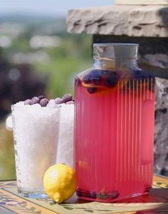 Blueberry Lemonade - maybe use this for kids versions of the cocktail.