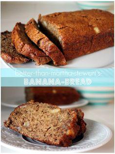 Better than Martha Stewart banana bread - It is delicious!