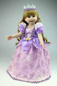 "18"" vinyl bodied princess dolls from www.harmonyclubdolls.com"