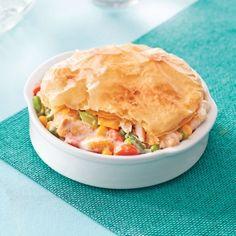 Pâtés au poulet en pâte phyllo - Soupers de semaine - Recettes 5-15 - Recettes express 5/15 - Pratico Pratique