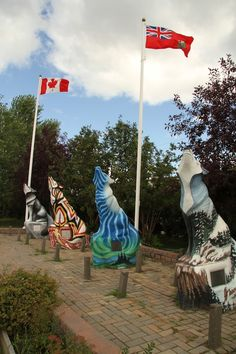 Spirit Way wolf statues are on the Top 10 Things to do in Thompson, Manitoba.  #wolfcapitaloftheworld