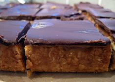 Jam and Clotted Cream: Chocolate Caramel Flapjacks Peanut Butter Flapjacks, Chocolate Flapjacks, Flapjack Recipe, Tart Recipes, Gourmet Recipes, Sweet Cooking, Oat Cookies, Chocolate Topping