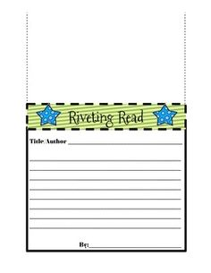 Shelf Talker: Book Review for your classroom Library!