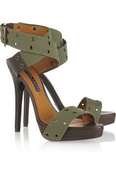 Jesalin canvas sandals by Ralph Lauren Collection